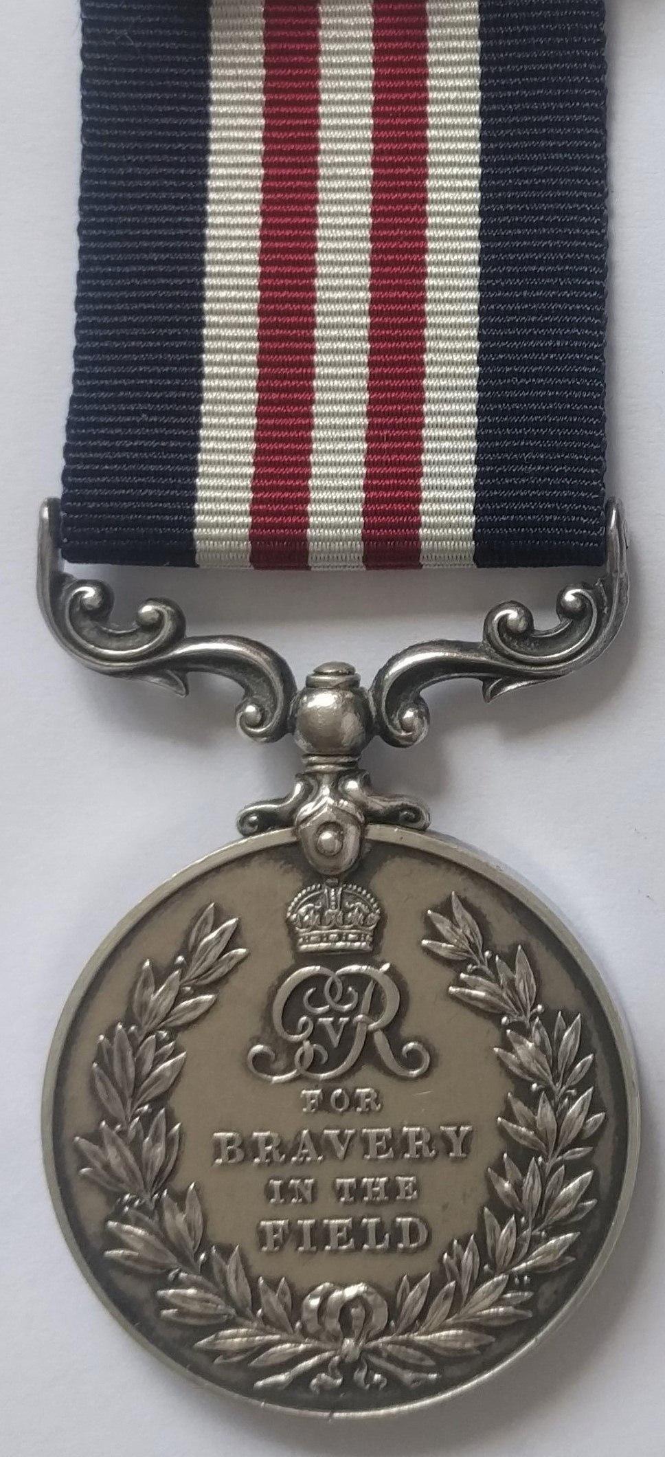 Military Medal, George V version (Reverse)