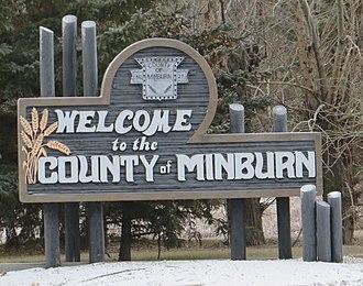County of Minburn No. 27 - Boundary sign