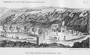 Loire coal mining basin - Image: Mine Loire 18e siècle