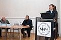 Ministru prezidens pasniedz pateicības rakstu profesoram Aivaram Lejniekam (7894033920).jpg