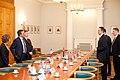 Ministru prezidents Valdis Dombrovskis tiekas ar Francijas satiksmes ministru Tjerī Mariāni (6748207899).jpg