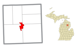 Location within Oscoda County