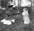 Miriam Kiehl playing with dog named Pedro, Magnolia Bluff, Seattle, Washington, February 4, 1900 (KIEHL 321).jpeg