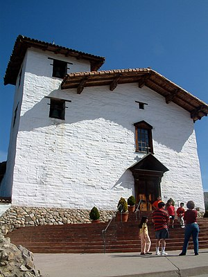 Mission San José (California) - The main façade of the Mission San José capilla (chapel) in March, 2004.
