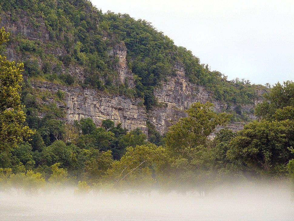Misty Bluff along the Buffalo River