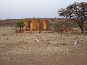 Molepolole - Image: Mma Kgosi House Ruins