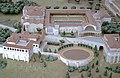 Model of Hadrian's Villa showing the Piazza d'Oro (Golden Hall) and the Gladiator's Arena, Hadrian's Villa (26588284609).jpg