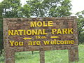 Mole Game Park Entrance Sign.JPG