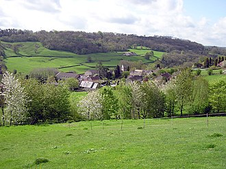 Monkton Combe - Image: Monkton.combe.from.a far.arp