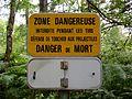 Mont-l'Évêque (60), panneau d'avertissement champ de tir.jpg