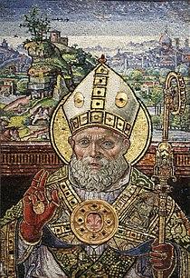 Monte di giovanni detto del fora, mosaico di san zanobi benedicente, 1505-05 (cropped).JPG