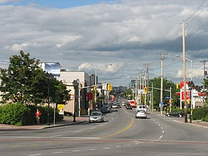 Vanier, Ontario - Montreal Road runs through the centre of Vanier.