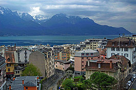 Skyline of Montreux