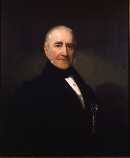 Morgan Lewis, endorsed by Hamilton, defeated Burr in the 1804 New York gubernatorial election. Morgan Lewis (portrait by Henry Inman).png
