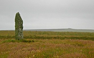 Shapinsay - The Mor Stein standing stone