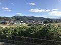 Mount Takasuyama from overpass of Susenji Station.jpg