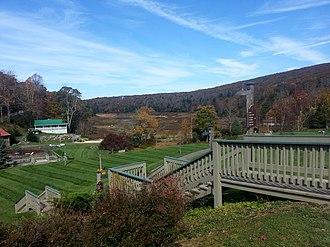 Mountain Lake (Virginia) - Image: Mountain Lake Virginia lakeview