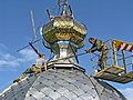 Mounting the dome of the temple in Borokh village.jpg