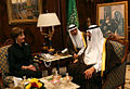 Mrs. Laura Bush meets with His Majesty King Abdullah Bin Abd al-Aziz Al Saud.jpg
