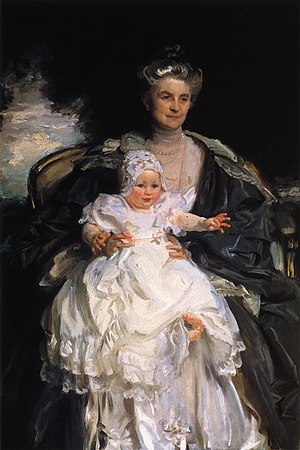 Henry Phipps Jr. - Mrs Henry Phipps and Her Grandson Winston, oil on canvas, John Singer Sargent, 1907