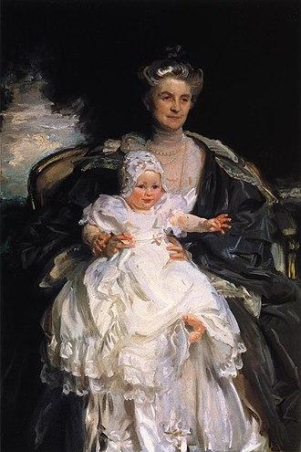Henry Phipps Jr. - Mrs Henry Phipps and Her Grandson Winston, oil on canvas, John Singer Sargent, 1907