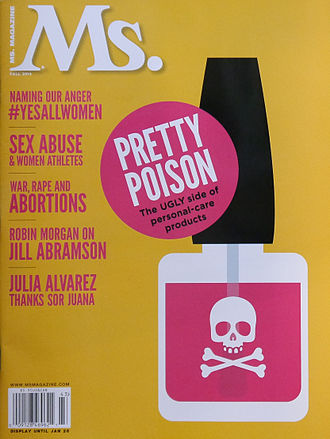 Nail polish - The safety of nail polish was examined in the fall 2014 issue of Ms. magazine