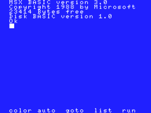 BASIC - MSX BASIC version 3.0
