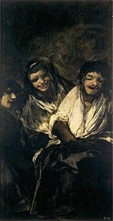 <i>Man Mocked by Two Women</i> painting by Francisco de Goya