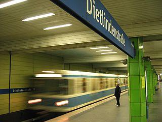 Munich U-Bahn rapid transit railway in Munich, Germany