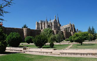 Astorga, Spain - The walls of the town were built at the time of Ancient Rome.