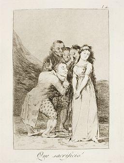 Museo del Prado - Goya - Caprichos - No. 14 - Que sacrificio!