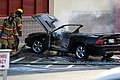 Mustang car fire at CVS on Key West Highway in North Potomac MD July 12 2012 (7575622576).jpg