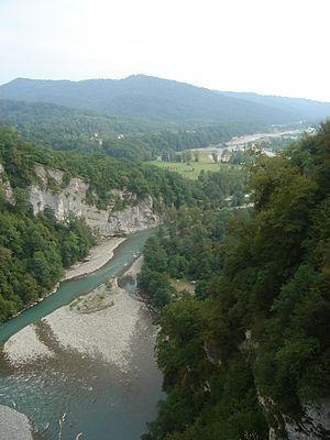 Mzymta River - Mzymta from the Akhshtyrskaya cave