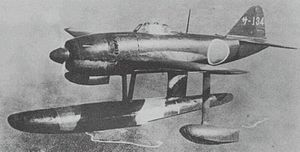 "Kawanishi N1K - Kawanishi N1K1 ""Rex"" floatplane fighter photographed by the Japanese Navy prior to 1945"