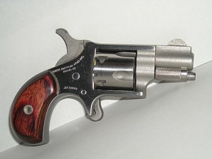 .22 Short - North American Arms model NAA22S mini-revolver, chambered in .22 Short