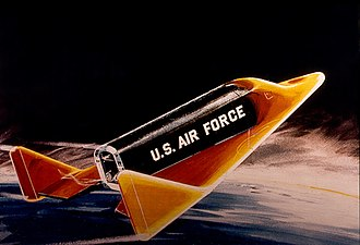 Boeing X-20 Dyna-Soar - Artist's impression of the X-20 during re-entry