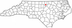 Location of Stem, North Carolina