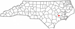 Location of Trenton, North Carolina
