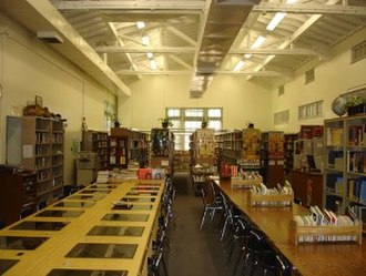 North Hollywood High School - The library.