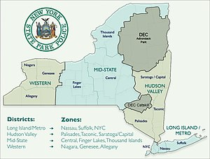 New York State Park Police - Image: NYSPP Districts and Zones