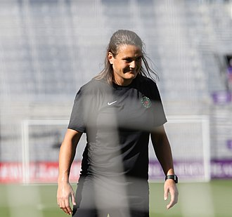 Nadine Angerer - Nadine Angerer coaching the Portland Thorns FC goalkeepers in 2017