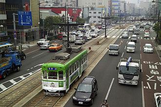 Nagasaki - A busy street in Nagasaki