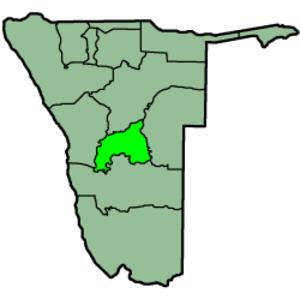 Khomas Region - Image: Namibia Regions Khomas 250px
