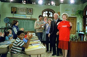 Diff'rent Strokes - Nancy Reagan on the set of Diff'rent Strokes