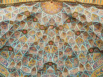Nasir ol Molk Mosque - Image: Nasr ol Molk mosque vault ceiling