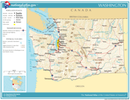 Kaart van State of Washington