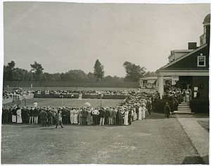 Philadelphia Cricket Club - National Women's Tennis Tournament at the Philadelphia Cricket Club. Photo: circa 1910–20.
