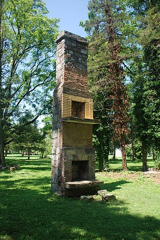 Chimney - A chimney remaining after the destruction of a 19th-century two-story house (Mount Solon, Virginia).