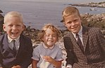 Neil, Dorothy, and Jeb Bush at Kennebunkport August 1962.jpg