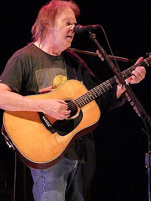 Neil Young performing in Nottingham, England o...